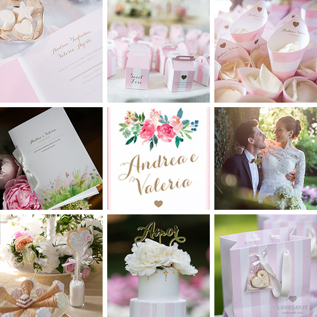 real wedding tema fun & pastel colore rosa oro