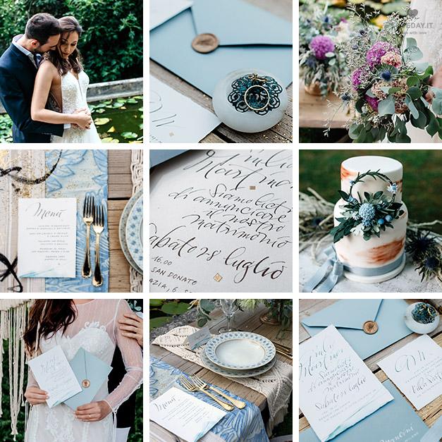 Matrimonio Tema Blu E Bianco : Stili matrimonio loveday