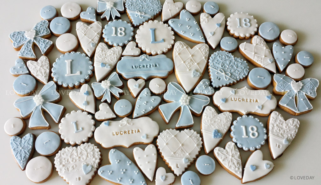 Cookies diciottesimo compleanno - sugar art Eventi by Loveday